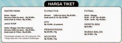 Tiket Wahana Lain   Foto: batas-depok.blogspot.co.id