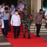 Pangdam I/BB Sambut Kedatangan Wakil Presiden di Sumbar