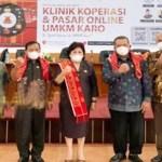 Bupati Karo Launching Klinik Koperasi dan Pasar Online UMKM