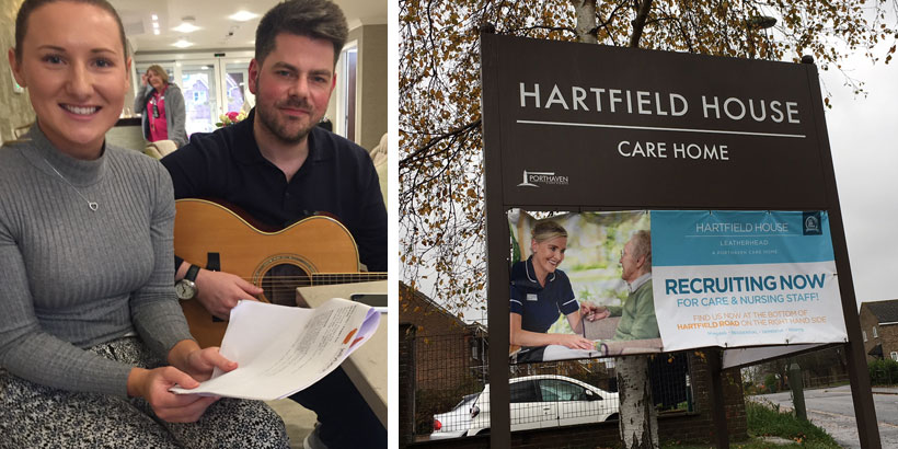 Foodservice Marketing - Jess Sewell & Nick Clancy – Hartfield House Care Home – Jellybean's 12 Days of Giving