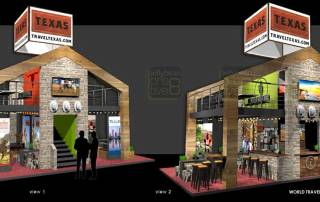Exhibition design mezzanine stand World Travel Market London Texas