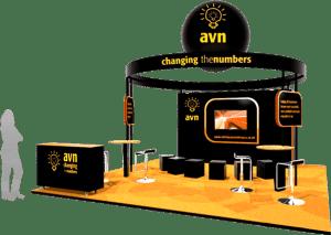 Exhibition stand design Avn Accountex London