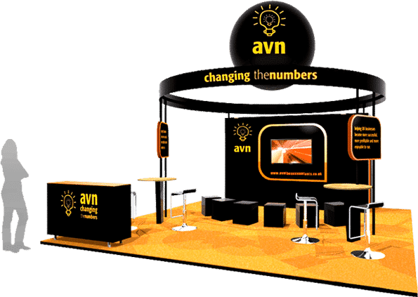 Exhibition stand design Avn Accountex London