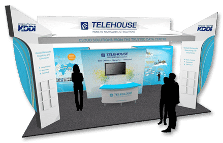 Cloud Expo Europe trade exhibition stand design Telehouse