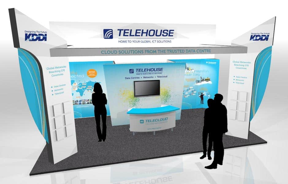 Exhibition Stand Design Agency : Telehouse cloud expo europe exhibition stand design