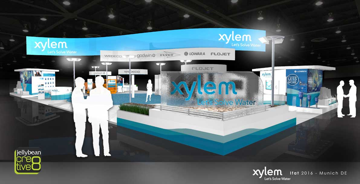 Exhibition Stand Designs For Sale : Xylem water ifat exhibition show stand