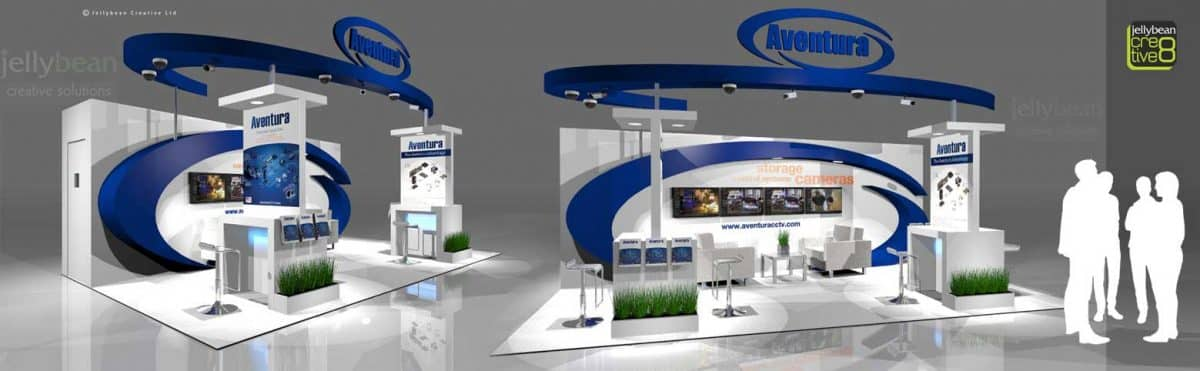 Aventura CCTV Ifsec International security Exhibition Booth Design
