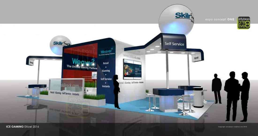 Exhibition stand Design SkillRock Ice Gaming London