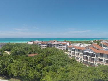 view of the nearby resort