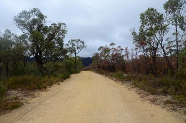 Sentier dans les Grampians Australie