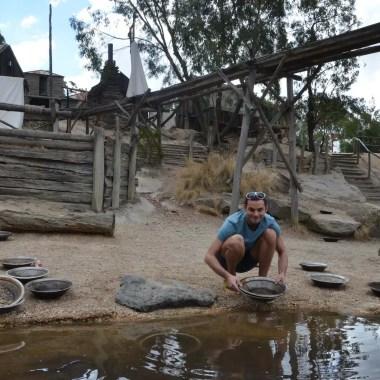 Cherchez de l'or à Ballarat Australie