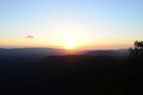 Coucher de soleil Grampians Australie