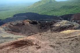 León Nicaragua avec volcans en arrière plan