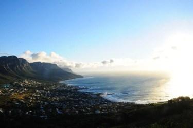 Vue sur la baie de Cape Town Afrique du Sud