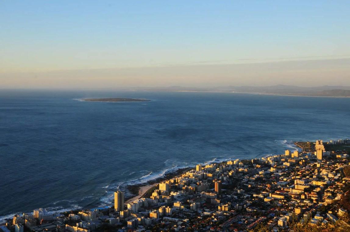 Ville du Cap au soleil couchant Afrique du Sud