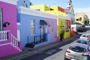 Façades colorées à Bo Kaap