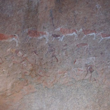 Peintures au Brandberg Namibie