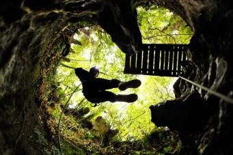 Descente en rappel de 32m Waitomo