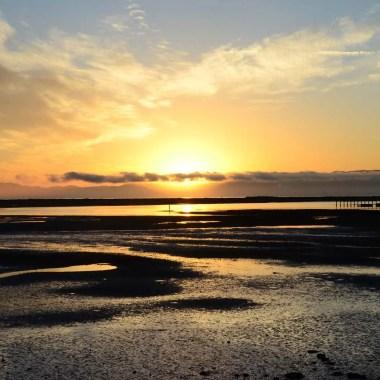 Lever de soleil à Motueka Nouvelle Zélande