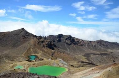 Lacs d'émeraude à Tongariro Nouvelle Zélande