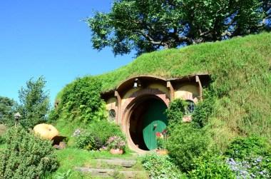 Maison de Bilbo à Hobbiton Nouvelle Zélande