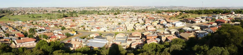 Vue panoramique de Soweto