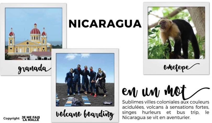 Tableau voyage au  Nicaragua