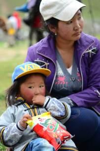 Spectateurs de lutte mongole