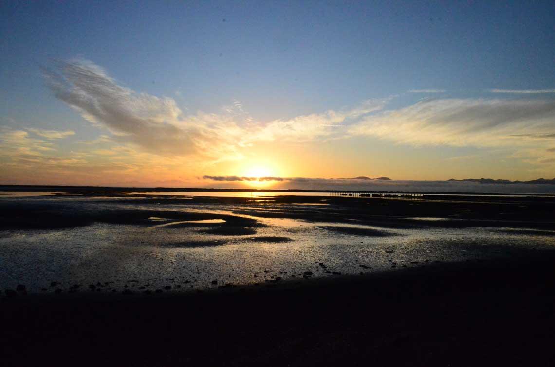 Motueka saltwater baths sunset