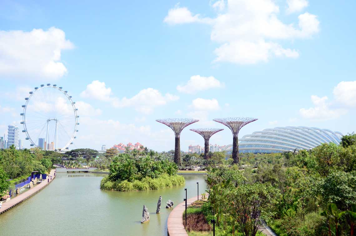Gardens by the Bay, vue du sud