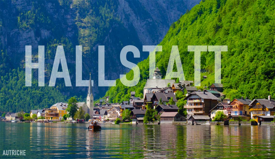 Vue depuis le lac de Hallstatt, Autriche