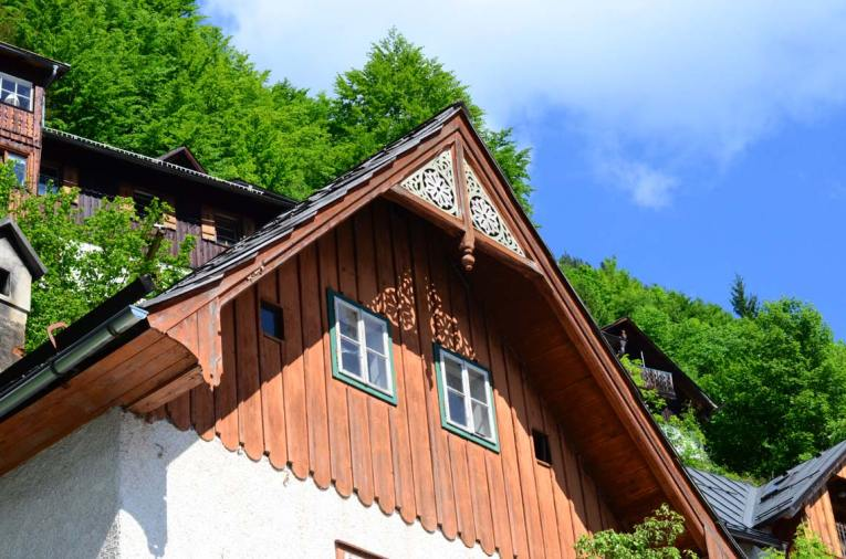 Toit de maison à Hallstatt