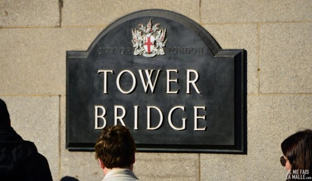 Tower Bridge sign