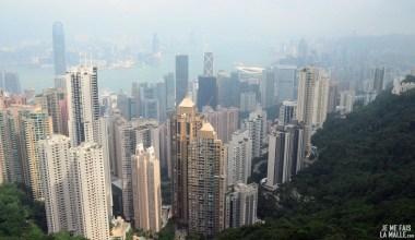 Vue ouest de Victoria Peak Hong Kong