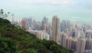 Vue est de Victoria Peak Hong Kong