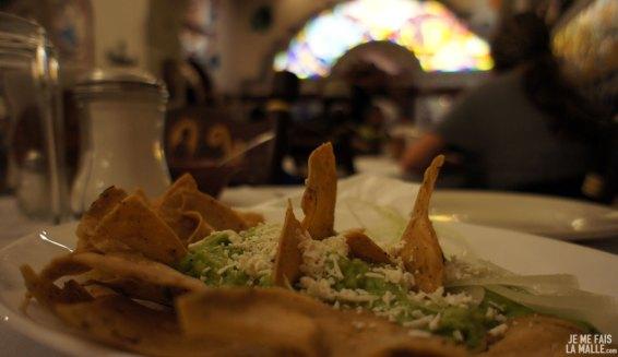Délicieux guacamole au Cafe de Tacuba