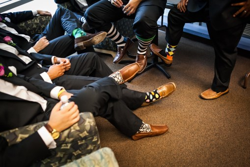 Colorful groomsmen socks