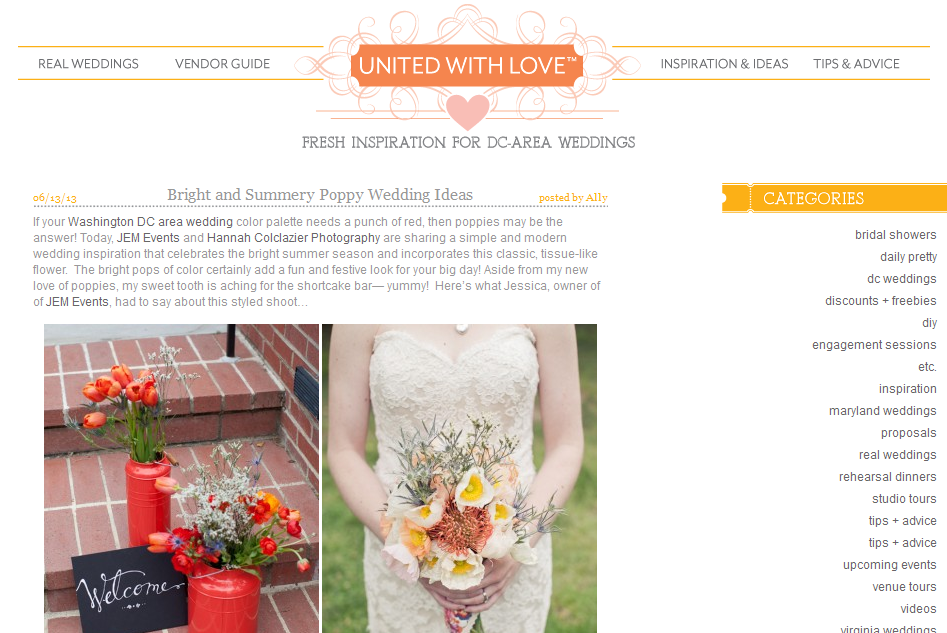 Summer Poppy Inspiration on United with Love