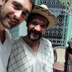 Au maroc avec le gérant fantastique d'une auberge Marocaine