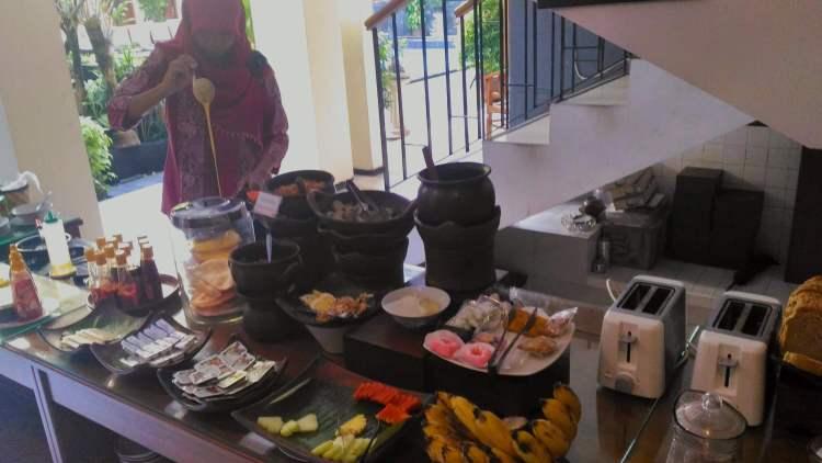 petit déjeuner hostel yogyakarta