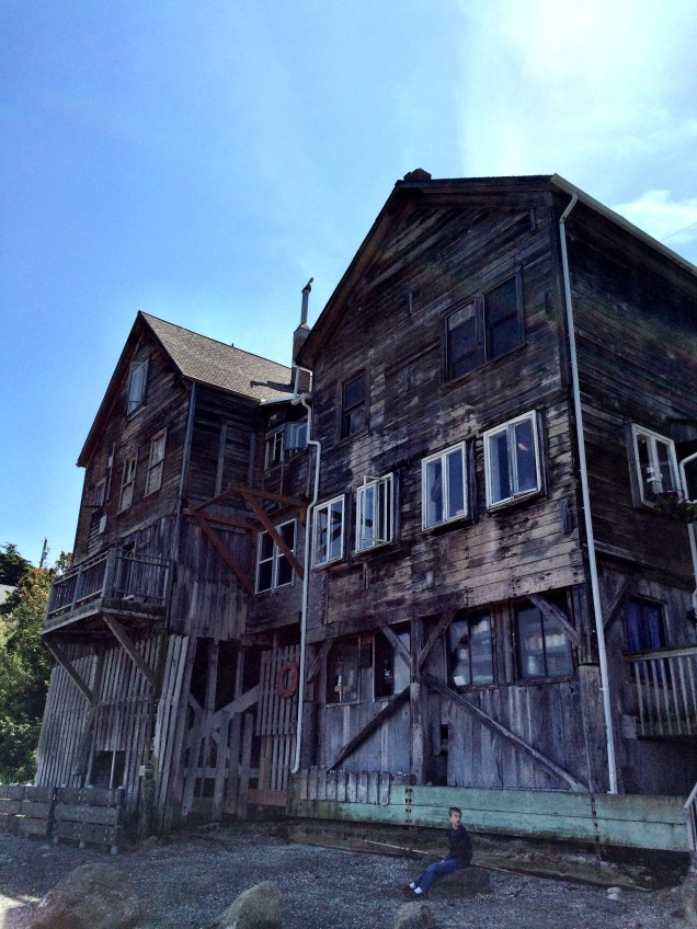A beautiful building from Coupeville from the beach. It houses a bakery now.