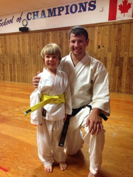 getting his yellow belt