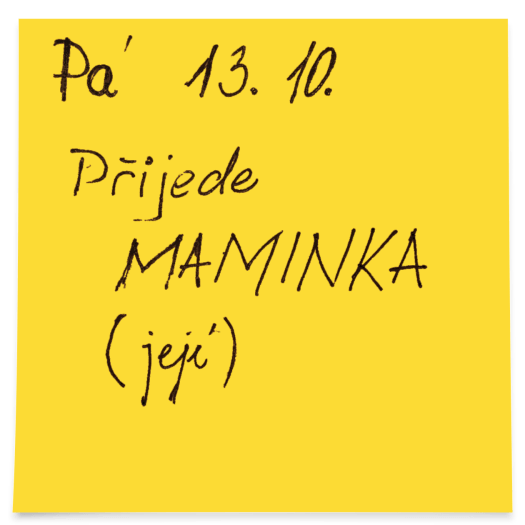 Post-It ukázka
