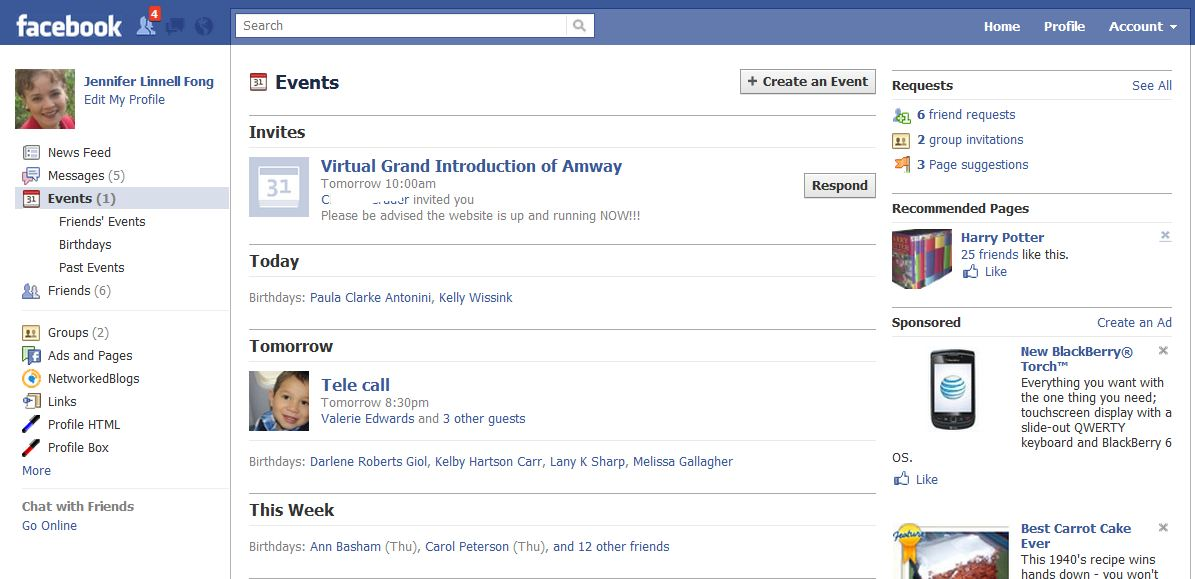 Facebook Home Page Full Site