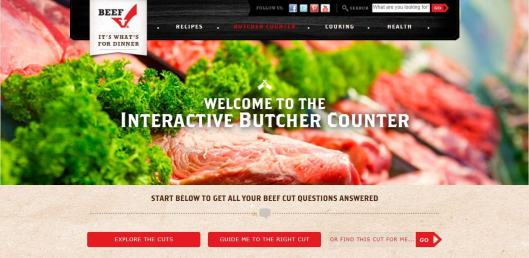 Interactive Butcher Counter