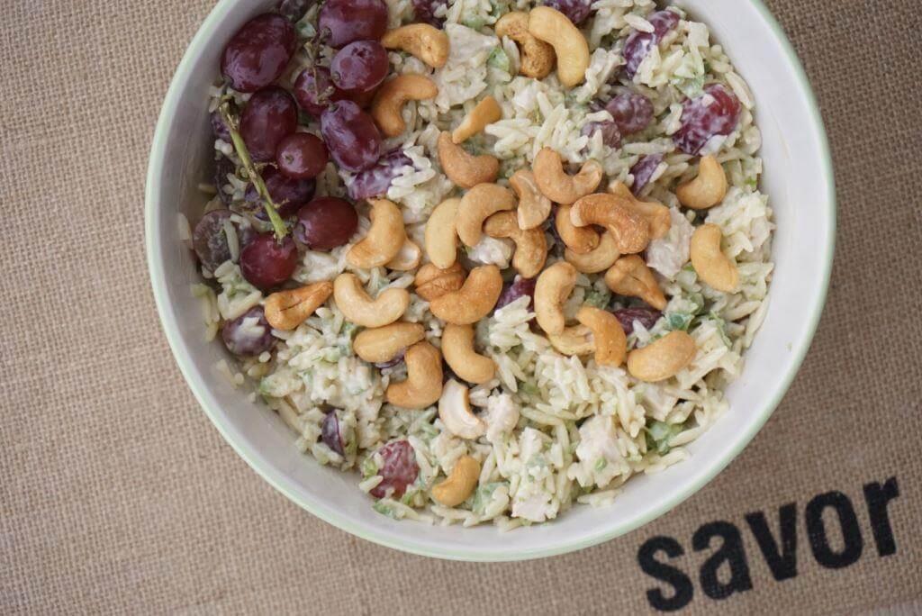 Savoring Cashew Chicken Pasta Salad