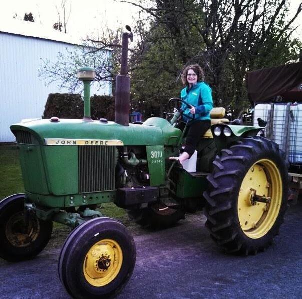 Bekah Driving Tractor