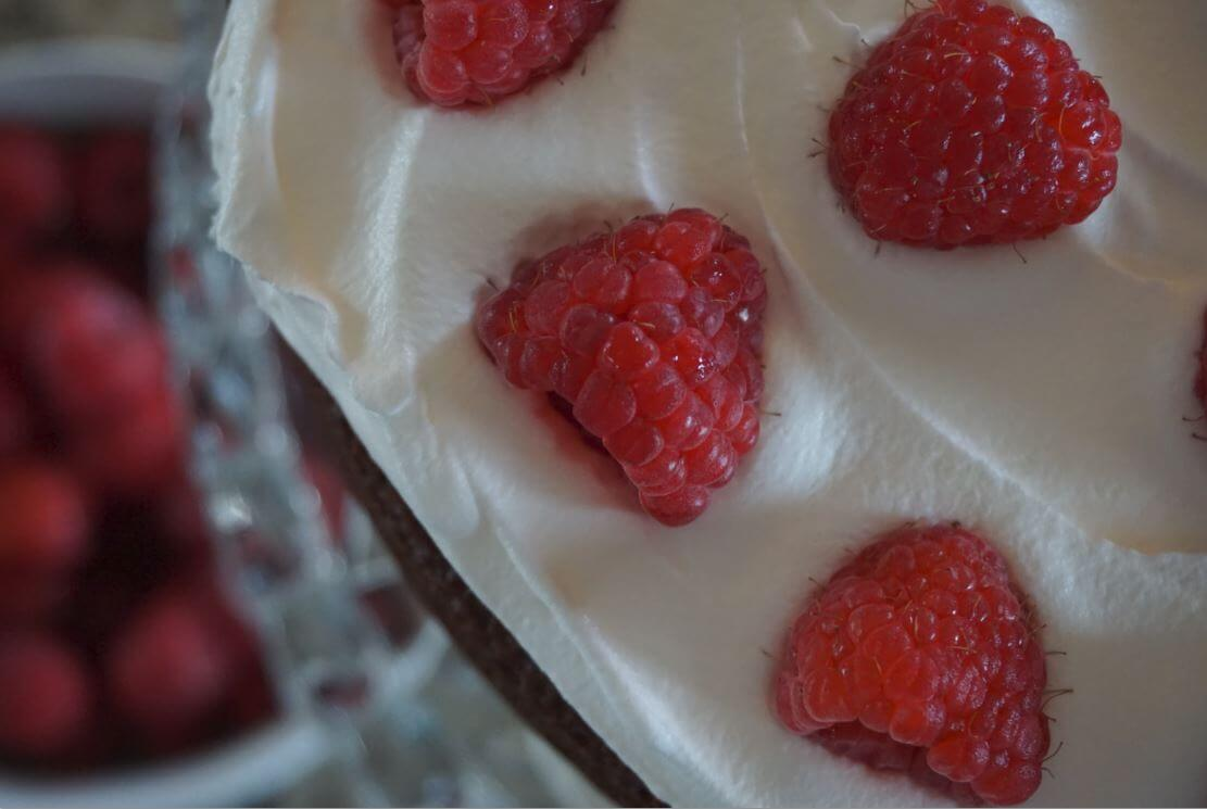 Raspberry Layer Cake Close Up