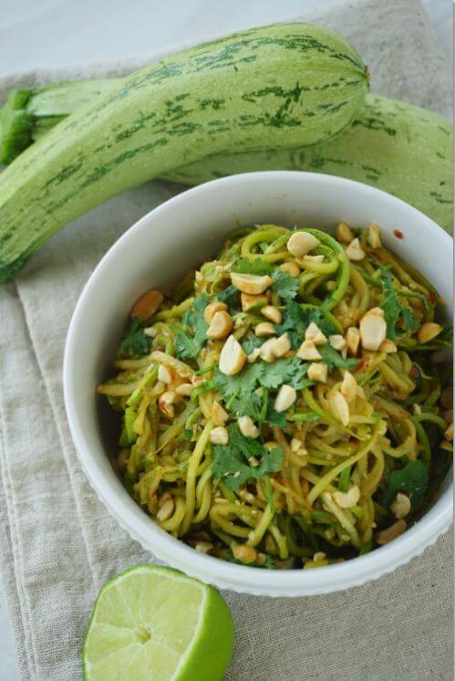 Thai Inspired Zucchini Noodles Lime
