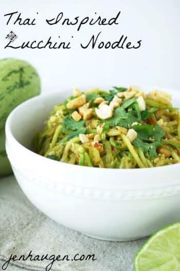 Thai Inspired Zucchini Noodles jen haugen